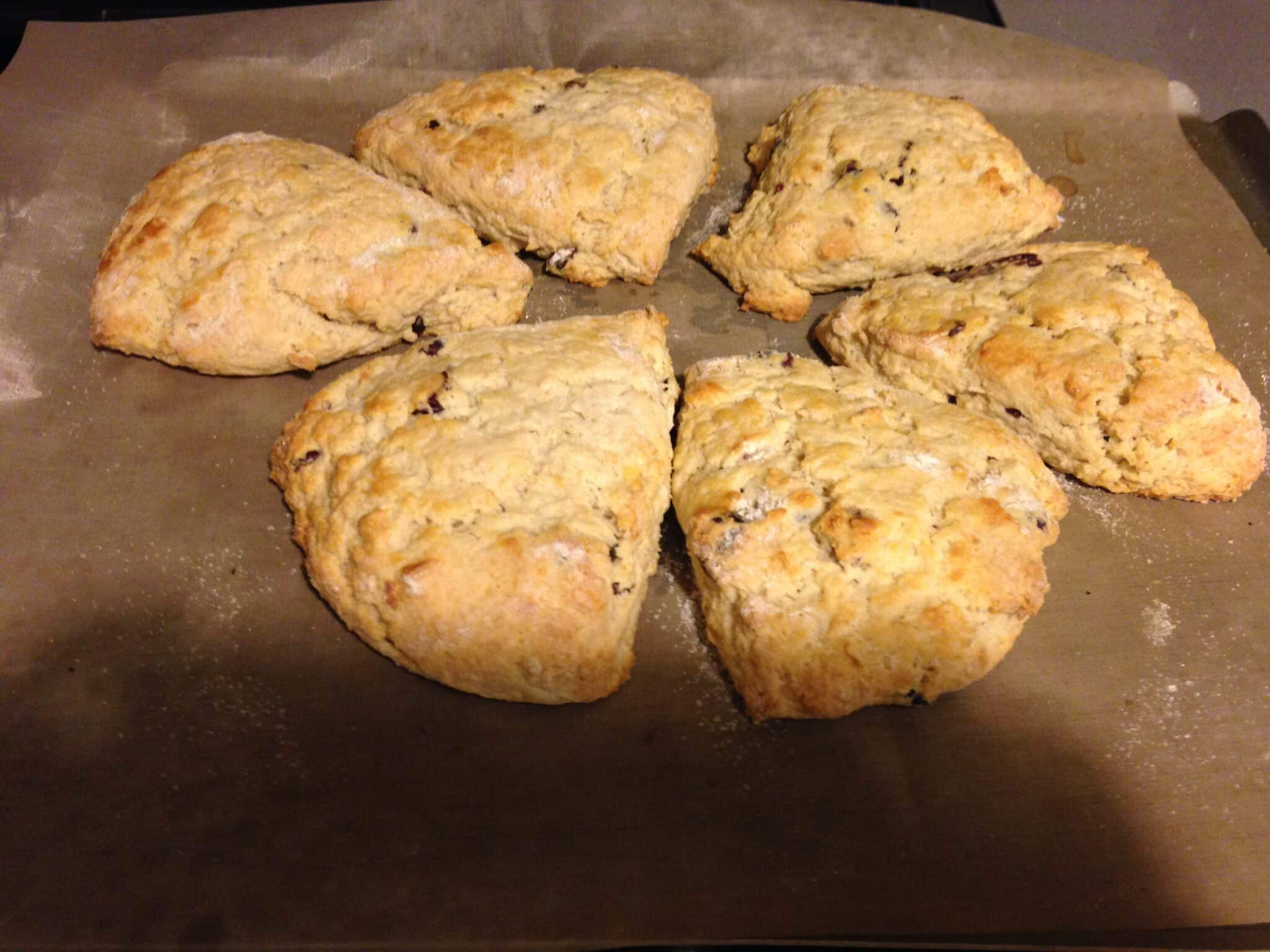 Cranberry and Walnut Scones