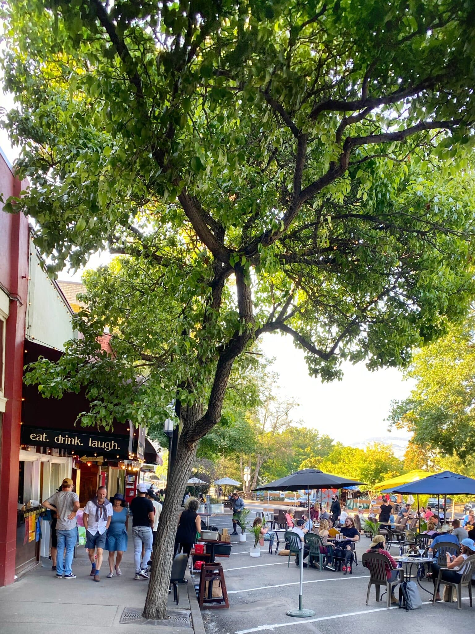 Outdoor dining on the Plaza in Ashland Oregon