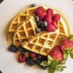 Buttermilk waffle with Blackberries, Blueberries and Strawberries