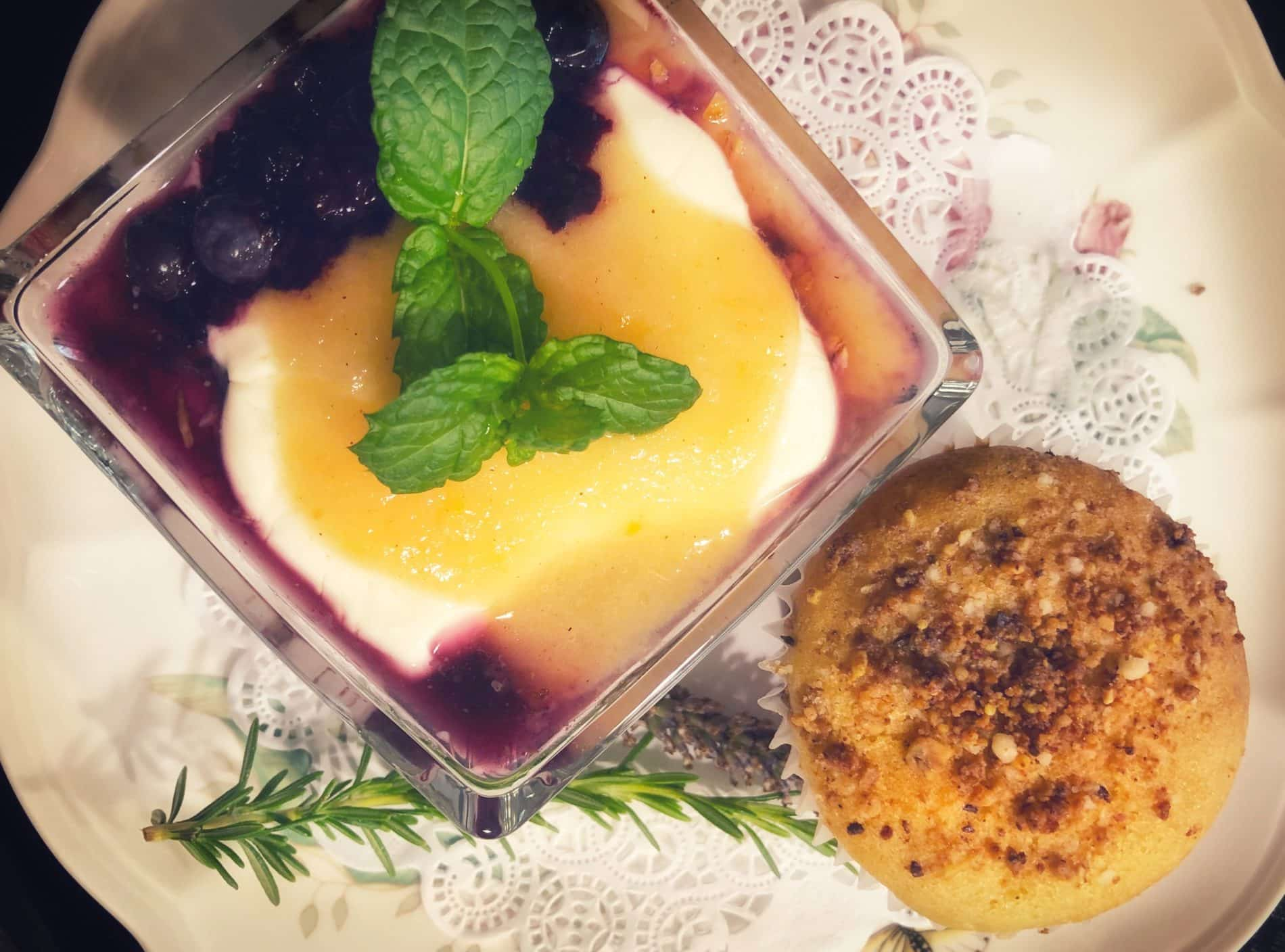 Breakfast Muffin with Fruit Parfait
