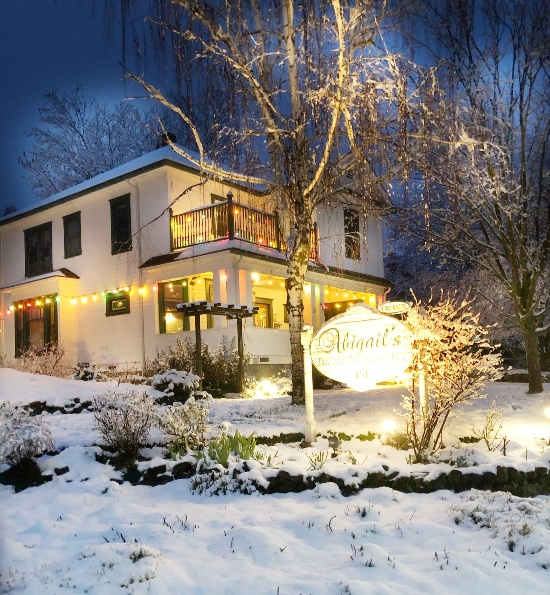 Abigail's Bed and Breakfast Inn Ashland, Or in Winter