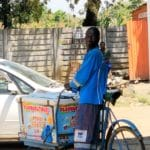 Ice Cream Vendor on a bicycle