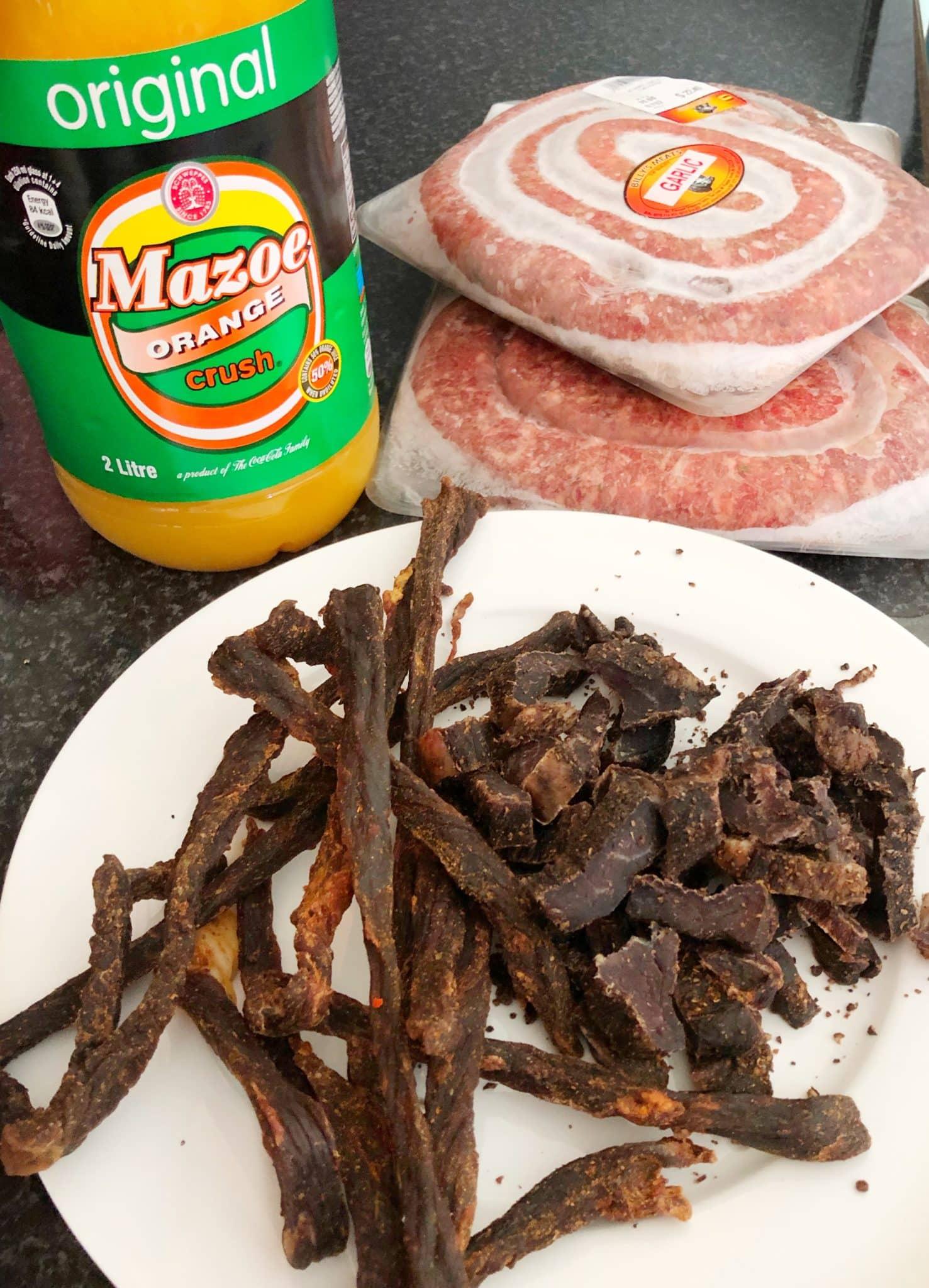 Biltong, Borewors and Mazow Orange