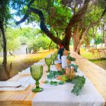 Wedding Table Set up on the Zambezi River in the bush