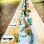 A bush Wedding table setting..
