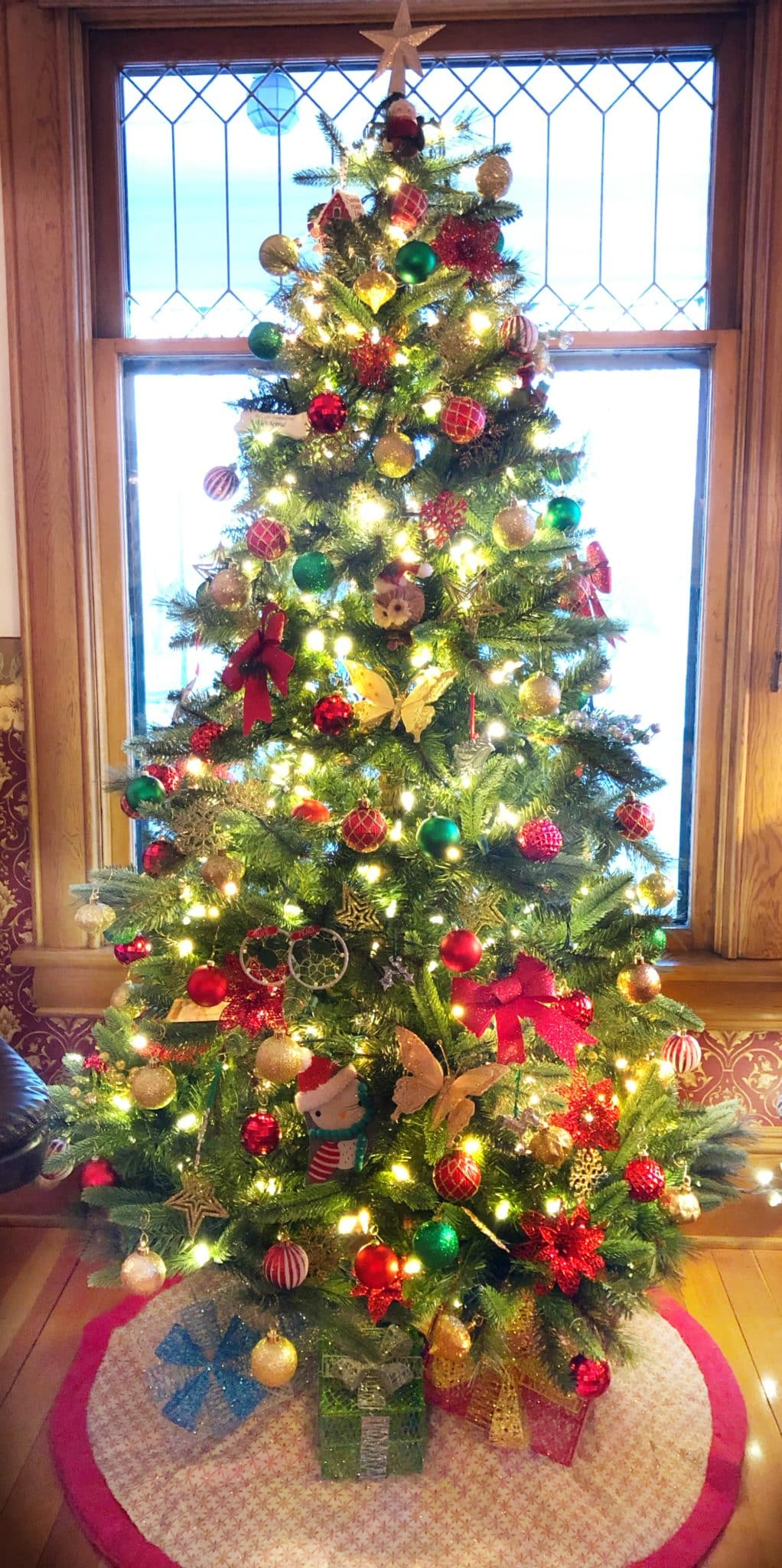 Christmas Tree here at Abigail's Bed and Breakfast Inn, Ashland, Or