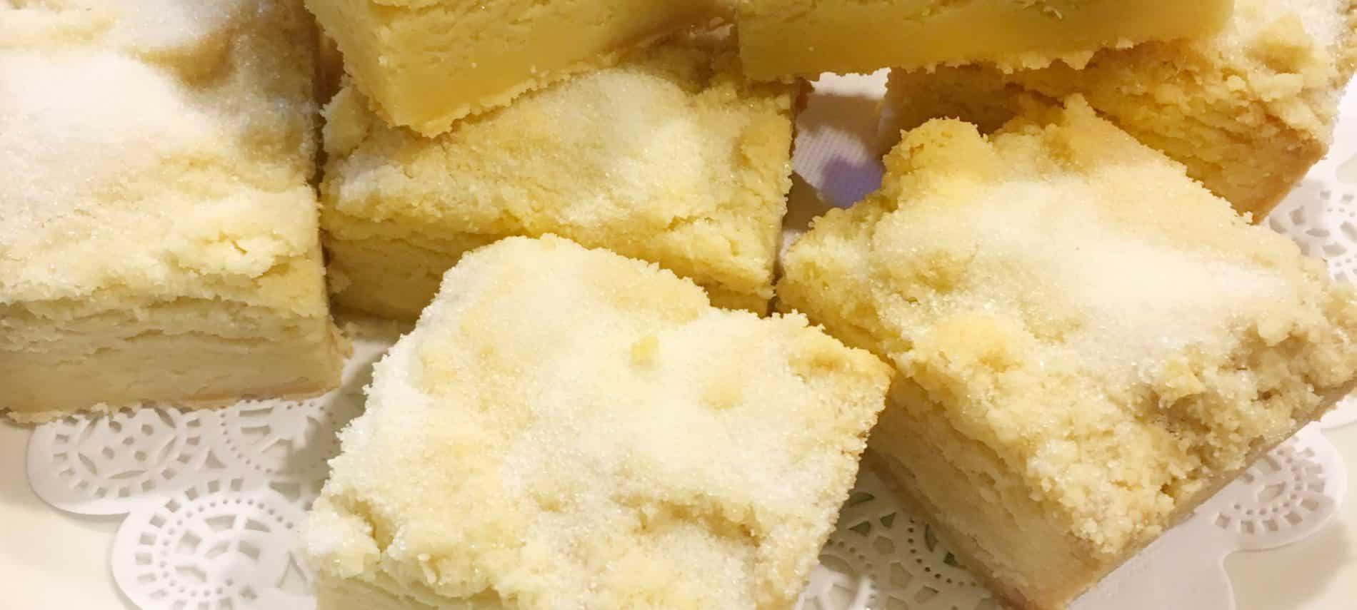 English Lavendar Shortbread Squares